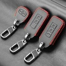 الجلود مفتاح السيارة مجموعة غطاء فوب لميتسوبيشي أوتلاندر لانسر EX ASX كولت غراندز باجيرو الرياضة مفتاح بعيد حماية