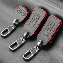 Leather car key case cover set fob for MITSUBISHI OUTLANDER Lancer EX ASX colt Grandis Pajero sport Remote key protection