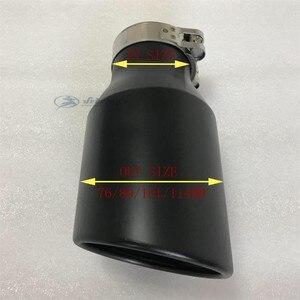 Image 4 - รถ muffler Modified TAIL ท่อสแตนเลสสีดำขนาดใหญ่ 114 Universal TAIL throat Matte สีดำปลายท่อไอเสีย Micro เคล็ดลับ