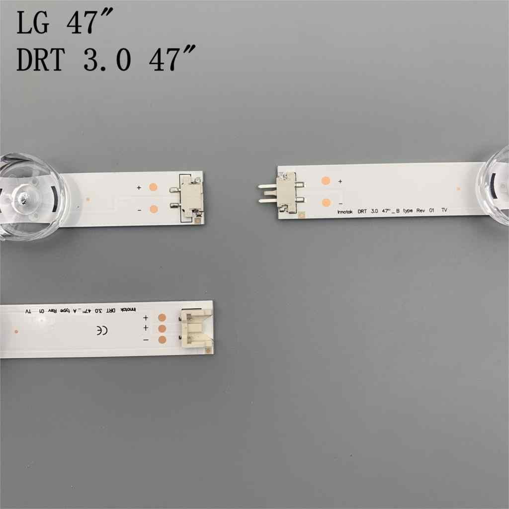 """Lámpara tira de LED para iluminación trasera 9 para LG de 47 """", TV innotek DRT de 3,0 47"""", 47LB6300, 47GB6500, 47LB652V, 47lb650v, LC470DUH, 47LB5610, 47LB565V"""