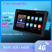 1din 7 İnç DSP Android 9 PX6 multimedya DVD Video oynatıcı GPS navigasyon araba radyo Stereo Wifi BT HDMI Carplay TV OBD DAB 4G + 64G(China)
