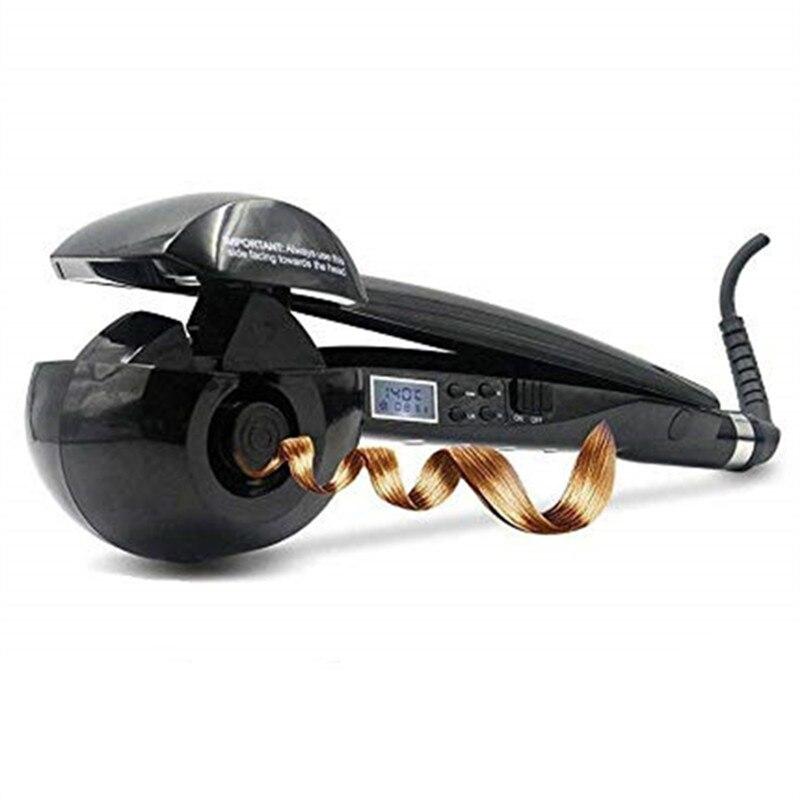 Nouveau automatique LCD Anti-échaudage fer à friser cheveux chauffage bigoudi baguette style outils Styler Curl fer céramique bigoudis spirale WXB - 4