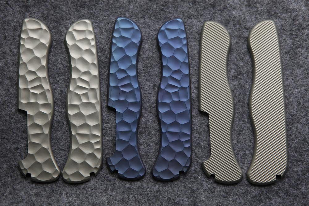 Custom Made Titanium Alloy TC4  Handle Scale Replacement for 111mm Victorinox Swiss Army Knife