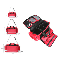 Large Storage First Aid Kit Outdoor Camping Medical Bag Emergency Survival Kit with Shoulder Strap for Tactical Military Family