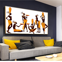 цена на Abstract African Women Canvas Paintings on The Wall Poster and Print Modern Wall Art Picture for Living Room Decoration No Frame