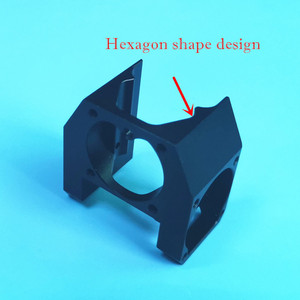 Image 3 - Neue 3D Drucker Teile E3D V6 Alle Metall Fan Kanal super cool Können Montieren 3 stücke 3010 Kühlung Fans, v6S Hexagon form innere