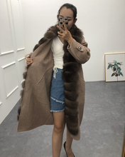 loose outerwear fur size