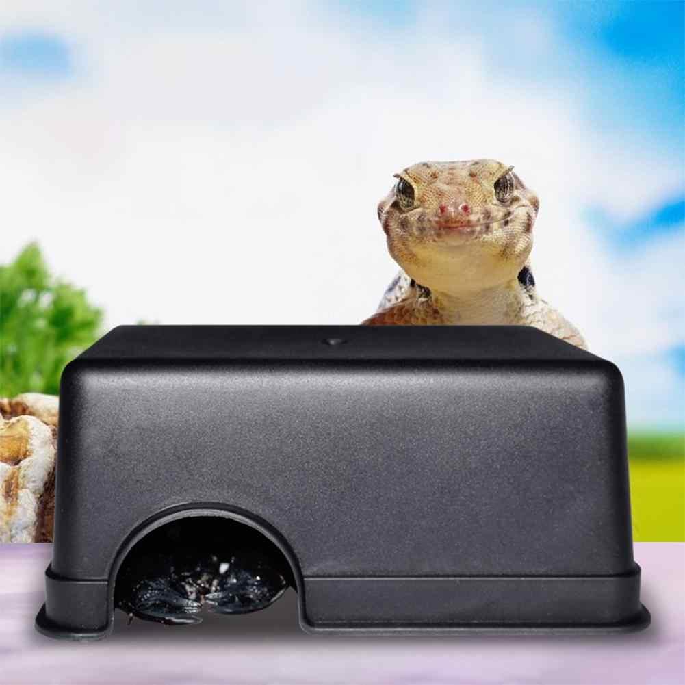 Metermall Reptil Kecil Hewan Peliharaan Mainan Tokek Ular Rumah Tempat Tinggal Makanan Air Mangkuk Gua Pendakian Kotak