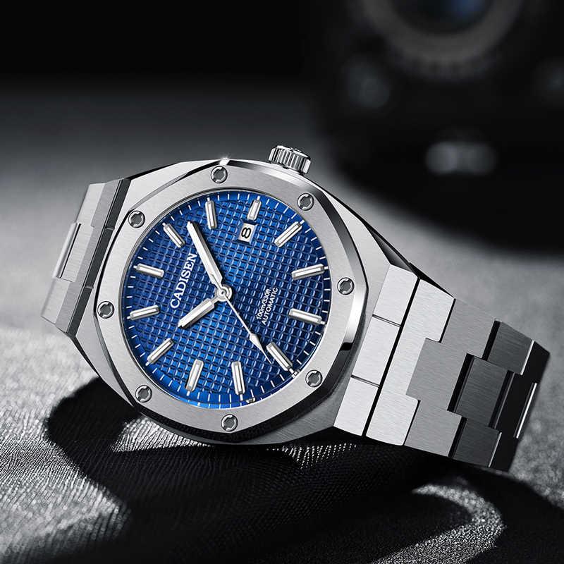 Cadisenデザインファッションメンズ腕時計トップブランドの高級スポーツ機械式自動腕時計メンズNH35 腕時計メンズレロジオmasculino