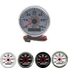 Universal 85mm gps velocímetro medidor odômetro para atv utv motocicleta barco marinho buggy 0 40mph 0 60 kmh velocidade calibre caminhão automático