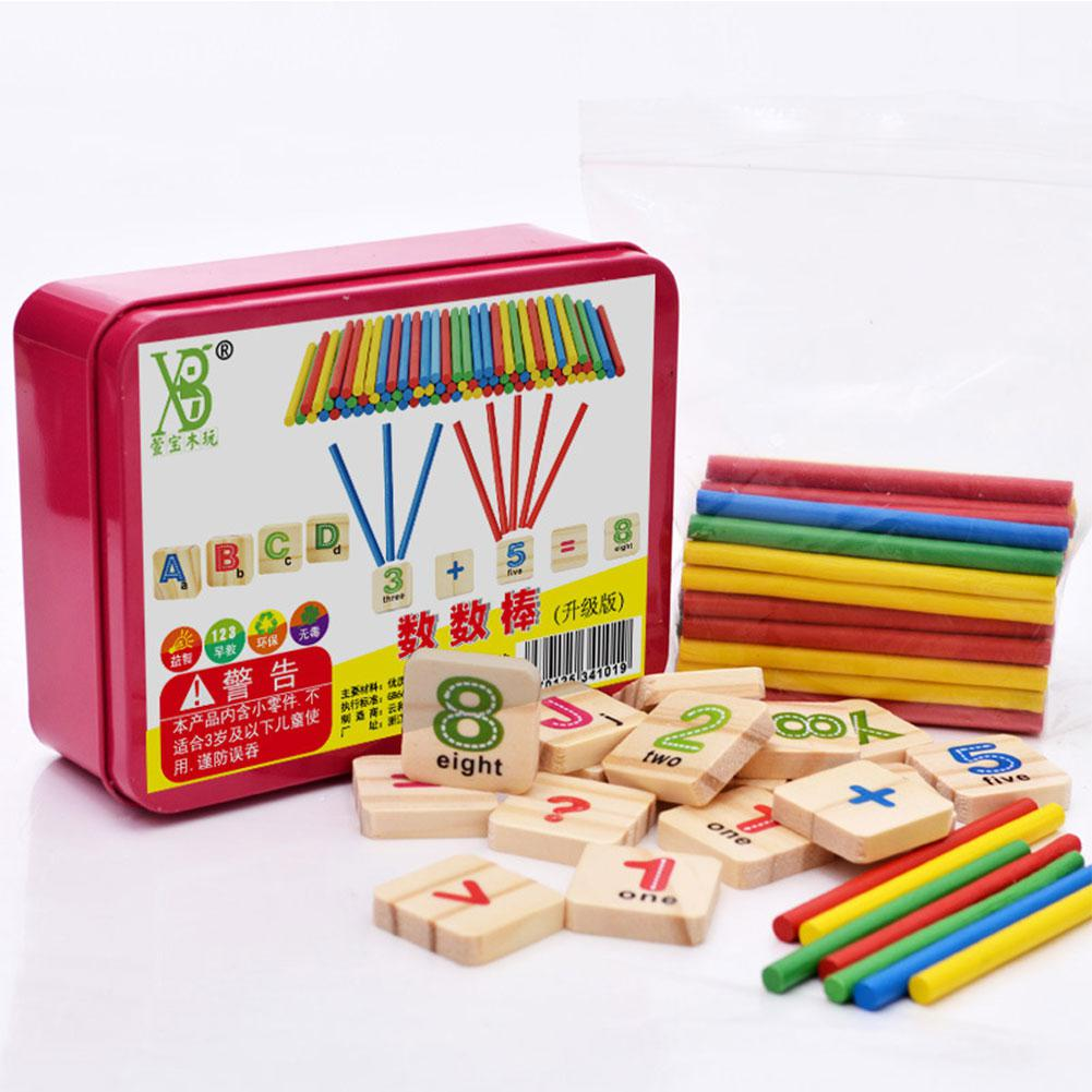 79 Pcs Educational Toys Wooden Mathematical Stick Blocks Set Counting Sticks For Boys And Girls