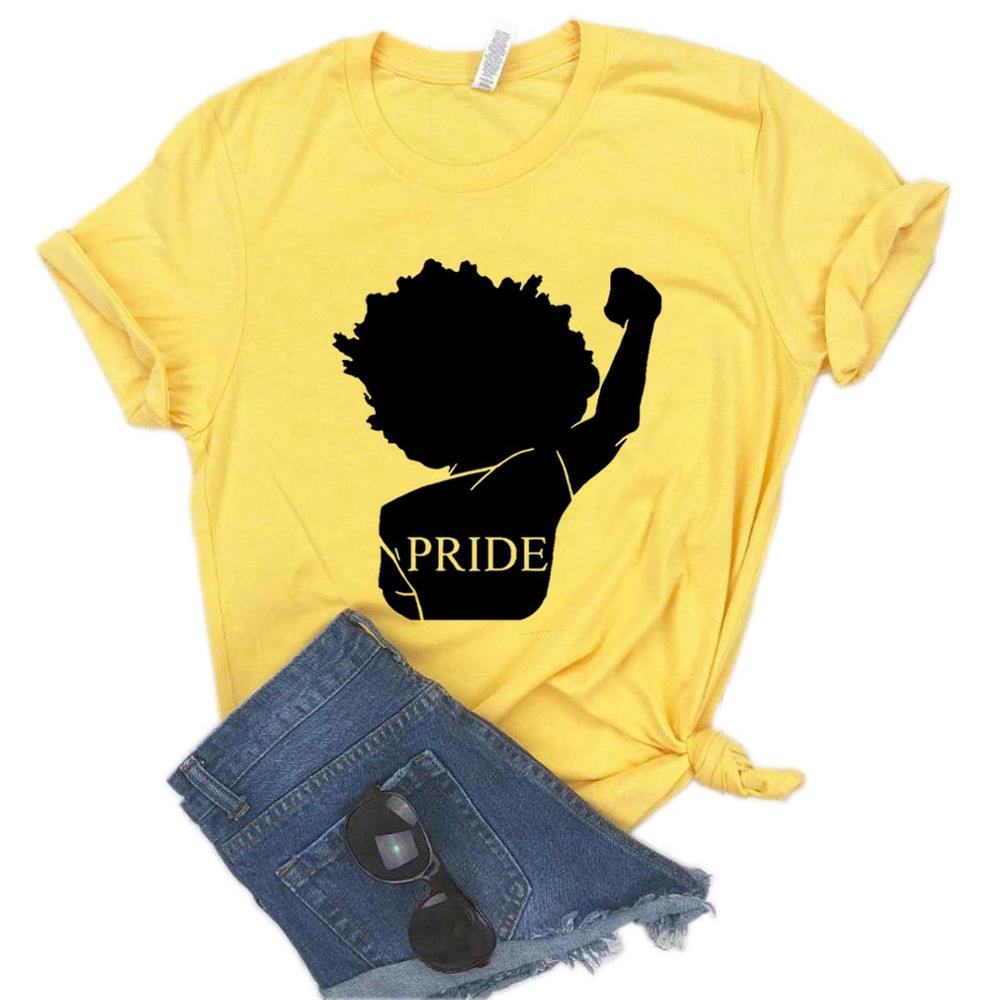 Black Pride Africa Power Print Women Tshirt Cotton Hipster Funny T-shirt Gift Lady Yong Girl Top Tee 6 Colors Drop Ship ZY-485
