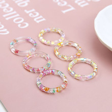 korean style girl cute transparent hollow ring inlay sequins  heart-shaped star resin earrings for women diy jewelry accessories