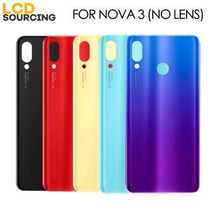 """Image 3 - Original 6.3"""" Battery Cover For Huawei Nova 3 Back Glass Battery Housing Cover + Camera Lens For Nova 3 Back Cover Case Replace"""