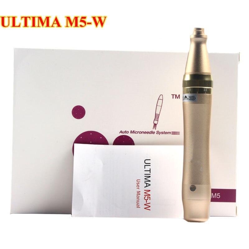Wireless Rechargeable ULTIMA M5-W Microneedling Pen With Bayonet Needle Cartridge Round Nano