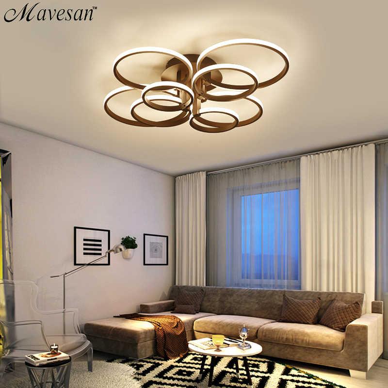 الاكريليك أضواء السقف ساحة خواتم لغرفة المعيشة غرفة نوم المنزل AC85-265V سقف ليد حديث مصباح تركيبات بريق plafonnier