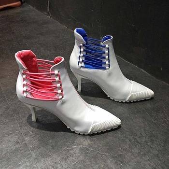 Shoes Women Boot 2019 New Arrival Korean Version Candy Color High heel 8CM Female Shoes Pointed Toe Lady's Shoes Female  Boot