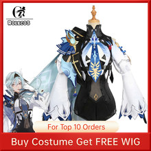 ROLECOS Genshin Impact Eula Cosplay Costume Uniform Cosplay Costume Women Halloween Party Outfit Game Suit Lovely Jumpsuits