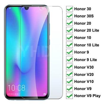 Перейти на Алиэкспресс и купить Закаленное стекло 9H для Huawei Honor 30 30S, Защитная пленка для экрана Honor 20 10 9 Lite V30 V20 V10 V9 Play