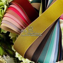 100yards 10 25 38mm colorful edge polyester cotton ribbon for garment accessories bouquet flower packing bow