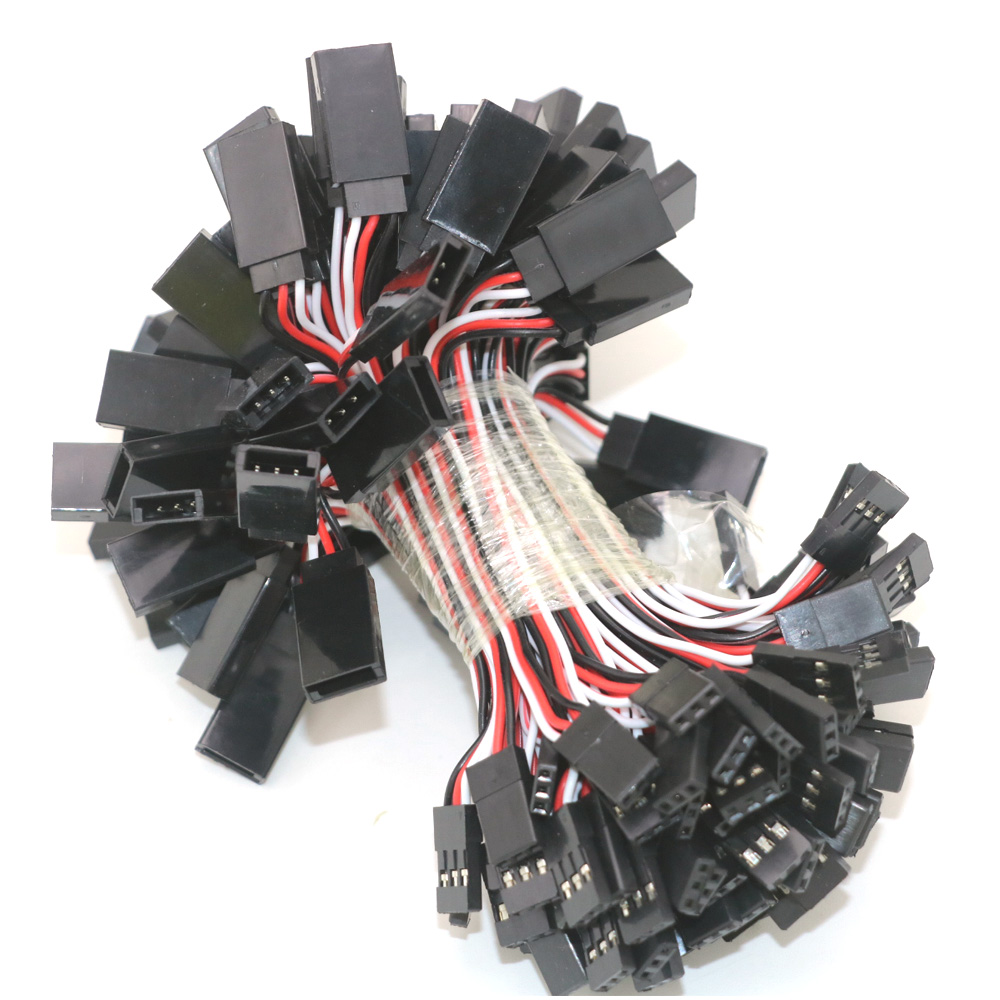 100pcs/lot Wire Cable 100mm 150mm 300mm 500mm Servo Extension Cable For Futaba Plug FutabLead Wire Cable For RC Toys