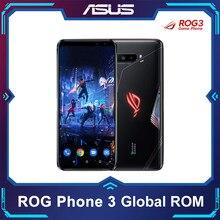 Küresel ROM ASUS ROG 3 telefon 5G Smartphone Snapdragon 865/865Plus 128GB 6000mAh NFC Android Q 144Hz FHD + AMOLED oyun telefon ROG3