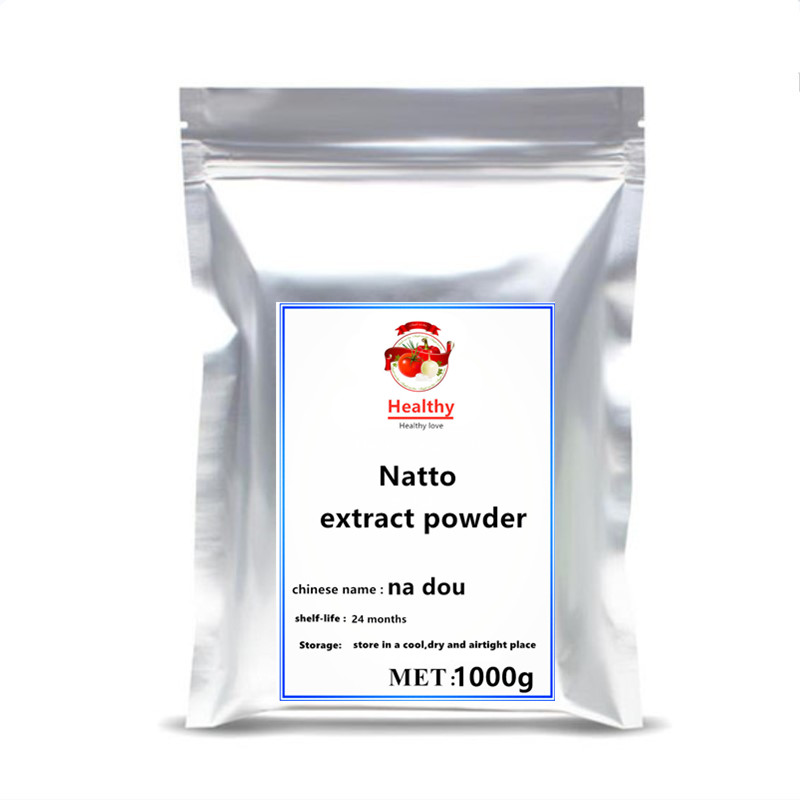 High quality 100% Organic Natural bacillus Natto powder Natto Extract Nattokinase Powder Support Memory 10000 FU/G free shipppin