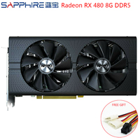 SAPPHIRE Radeon RX 480 Graphics Cards AMD Gaming PC Video Card GPU RX480 256bit 8GB GDDR5 Gaming Computers Video Card Used Cards