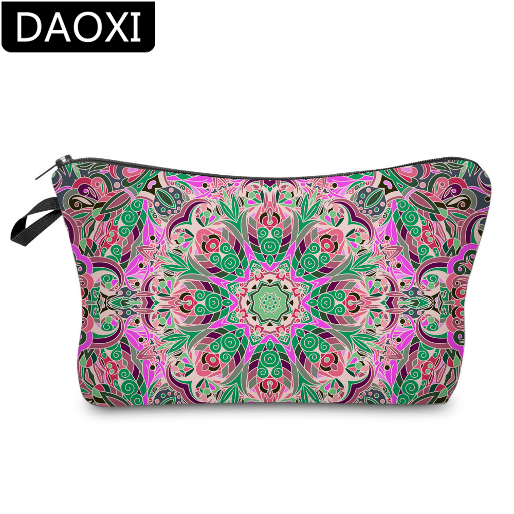 DAOXI 3D Printing Mandala Flowers Cosmetic Bags Makeup Bag For Party DX51467