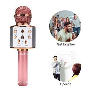Image 3 - Tout nouveau haut parleur de Microphone sans fil Bluetooth professionnel Microphone à main karaoké micro KTV lecteur de musique enregistreur de chant