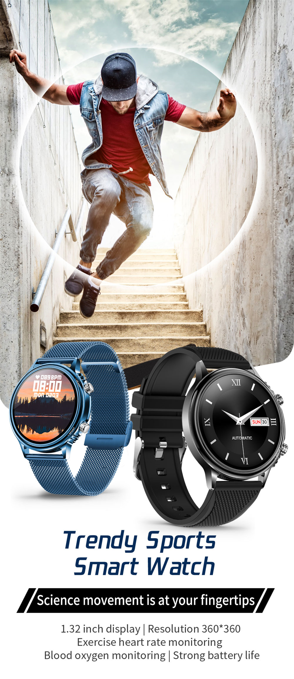 Ha42e2748919949ecad6ae0f83a06e593B LIGE New Smart Watch Men Custom Dial Full Touch Screen Waterproof Smartwatch For Android IOS Sports Smart watch Fitness Tracker