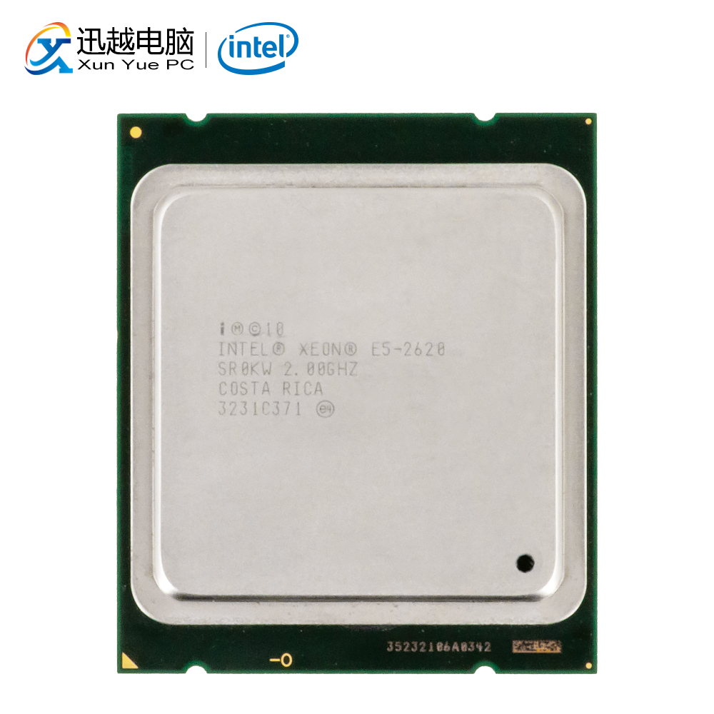 Intel Xeon E5-2620 Desktop Processor 2620 Six Core 2GHz 15MB L3 Cache LGA 2011 Server Used CPU