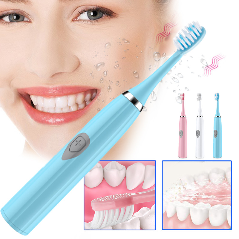 Adults Clean Mouth Waterproof Ultrasonic Smart Toothbrush Sonic Toothbrush 3 In 1 Electric Toothbrush Upgraded Health