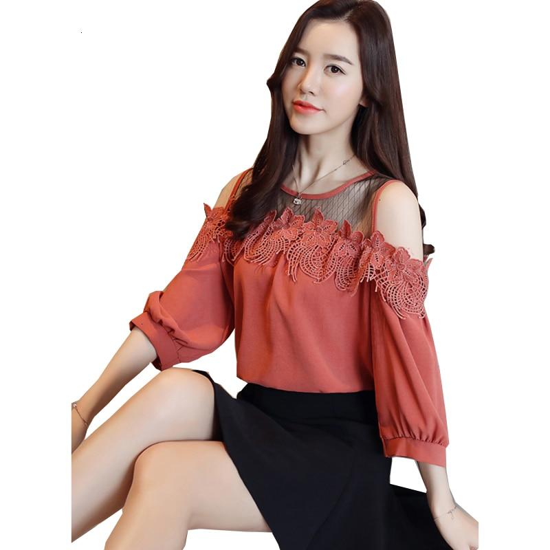 Printemps été creux côté élégant femmes t-shirt dames nouvelles femmes coréennes o-cou slim femme en mousseline de soie t-shirt T YM350