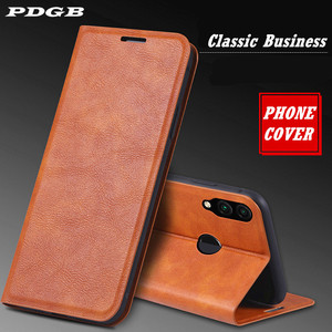 PDGB Wallet Leather Case for Huawei P20 P30 Honor 9 10 Lite 20 Pro V20 20i 8C 8X 9X Y9 2019 Magnet Book Flip Case Soft Cover(China)