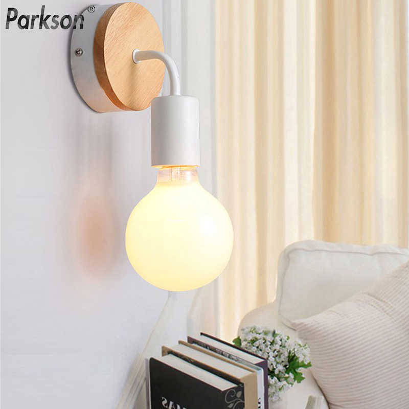 Modern Wall lamp Simple Solid Wood Wall light bathroom light Indoor Bedside Lamp for home decoration Sconce nordic Lighting