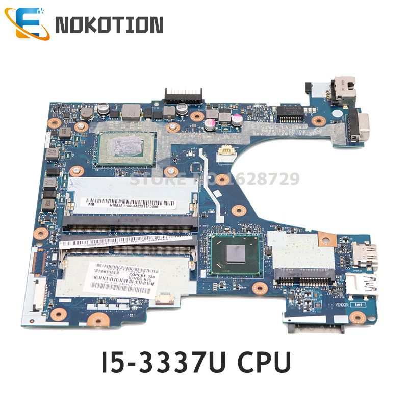 NOKOTION For Acer Aspire  V5-131 V5-171 Laptop Motherboard NBM3A1100L Q1VZC LA-8943P Mainboard I5-3337U CPU DDR3