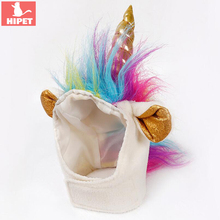 Halloween Cat Unicorn Costume Pet Dog Headgear Funny Christmas Festival Party Cosplay Supplies Decorative Small Cats Dogs Hat