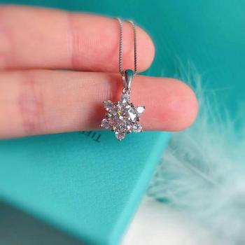 silver moissanitependant 1.00ct D VVS Six-pointed star necklace silver 925 jewelry necklaces for women