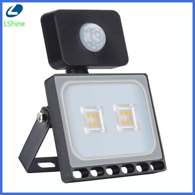 LED Slim Flood Light 10W-100W Outdoor Black Landscape Lamp Decorative Wall Pack