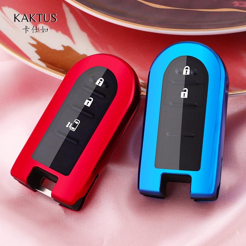 TPU Full Protect Key Cover Key Case For Toyota Rush Daihatsu Tanto LA600S LA800S LA610S LA150S Perodua 2/3/4 Button Smart Key