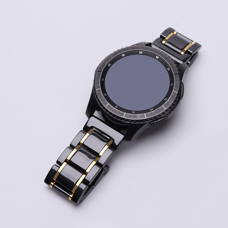 18/20/22mm Ceramic Watch Band For Samsung Galaxy 46/42mm Replacement Band /Gear S2 S3 /HONOR Watch Magic For Huawei Watch GT