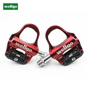 Pedales de bicicleta de pozo R300 cojinete sellado ultraligero con bloqueo automático CNC pedales de bicicleta de carretera de aleación de aluminio piezas de pedales de bicicleta