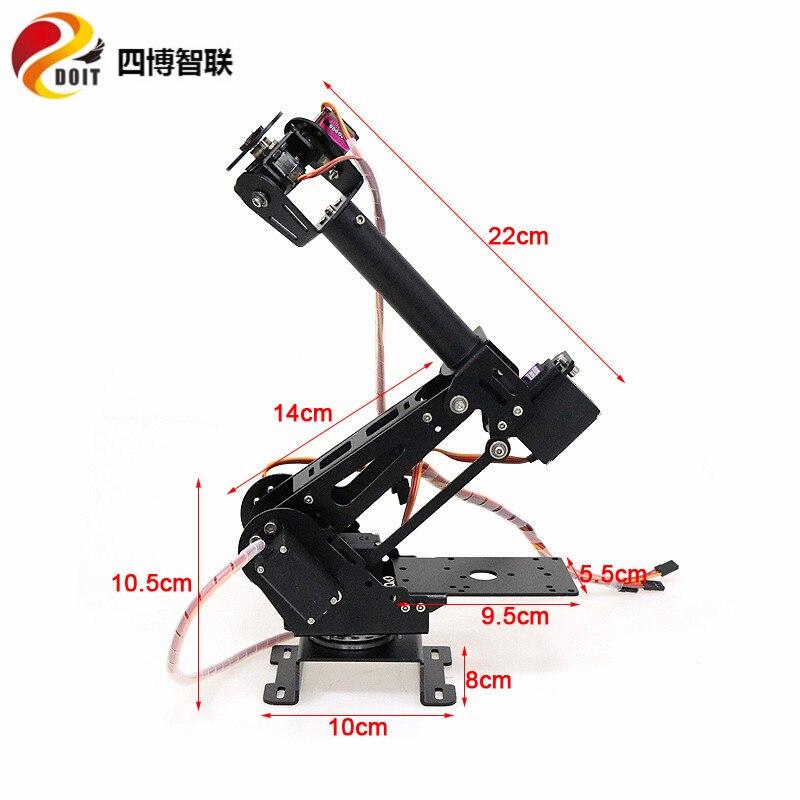 SZDOIT 7-Axis Aluminum Alloy Robotic Arm Kit for ABB Industrial Robot 3