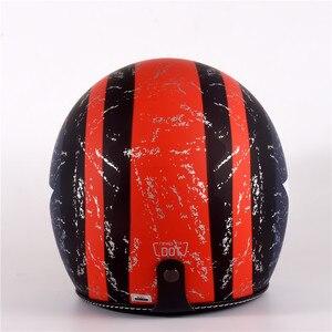 Image 5 - Vạn Lịch Mở Mặt Moto Rcycle Mũ Bảo Hiểm Lật Lên Tấm Che Vintage Retro Moto 3/4 Nón Bảo Hiểm Nửa Năm 818 XS Đến XL 53 Cm 61 Cm