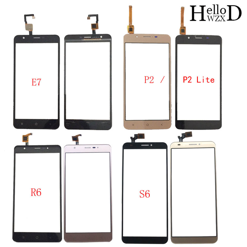 Mobile Touch Screen For BlackView E7 P2 P2 Lite R6 S6 Digitizer Panel Front Glass TouchScreen Lens Sensor 3M Glue Wipes