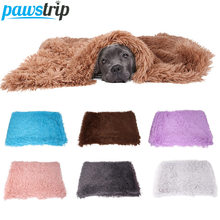 Winter Dog Bed Mat Soft Fleece Puppy Cushion Warm Cat Sleeping Bed For Small Large Dogs Cats Fleece Dog Blanket Cama Perro S/M/L(China)