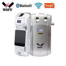 Wafu 019 – serrure intelligente à empreinte digitale Tuya, wi-fi, mot de passe, Bluetooth, télécommande intelligente, Invisible