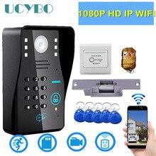 IP wifi video kapı zili kamera interkom sistemi 1080p HD kablosuz IR sd RFID elektrikli kilit ev güvenlik görüntülü kapı telefonu kiti