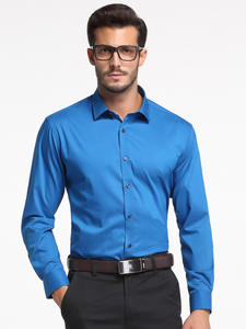 Men's Comfortable - Soft & Smooth Bamboo-fiber Dress Shirts Pocket-less Design Long Sleeve Standard-fit Classic Easy-care Shirt
